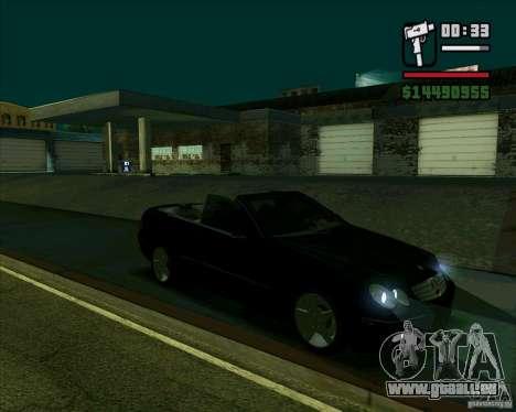 Mercedes-Benz CLK500 pour GTA San Andreas sur la vue arrière gauche