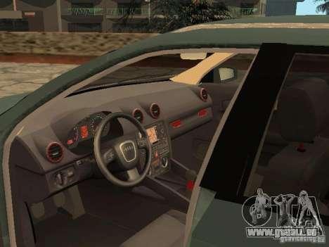 Audi S3 Sportback 2007 für GTA San Andreas Rückansicht