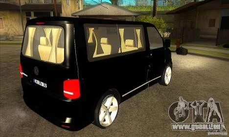 Volkswagen Caravelle 2011 SWB pour GTA San Andreas vue de droite