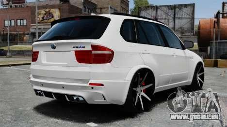 BMW X5M pour GTA 4 Vue arrière de la gauche
