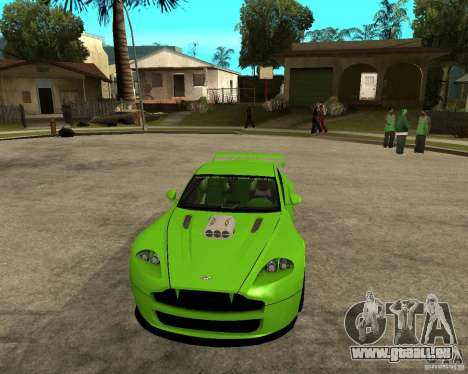 Aston Martin Vantage V8 - Green SHARK TUNING! pour GTA San Andreas vue arrière