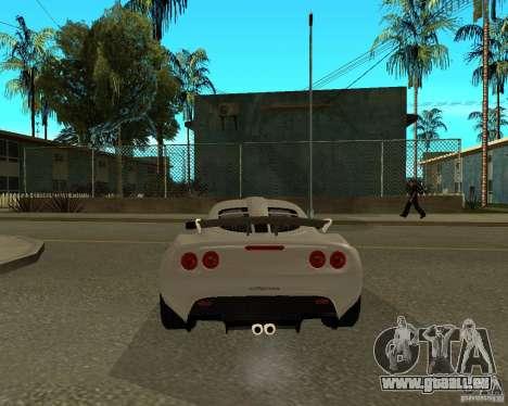 Lotus Exige pour GTA San Andreas sur la vue arrière gauche