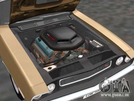 Dodge Challenger 440 Six Pack 1970 für GTA San Andreas Rückansicht