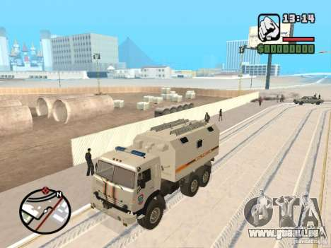KAMAZ MES Version 2 für GTA San Andreas linke Ansicht