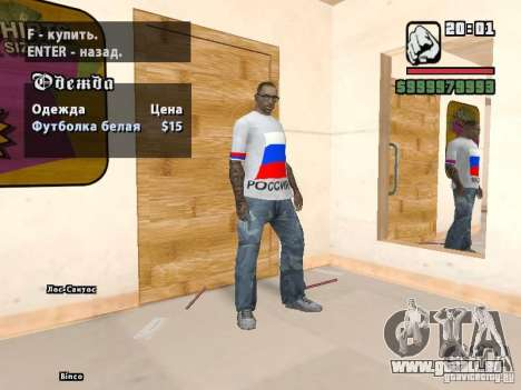Football Russie pour GTA San Andreas