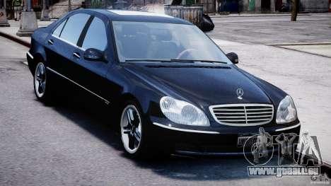 Mercedes-Benz W220 für GTA 4 Rückansicht
