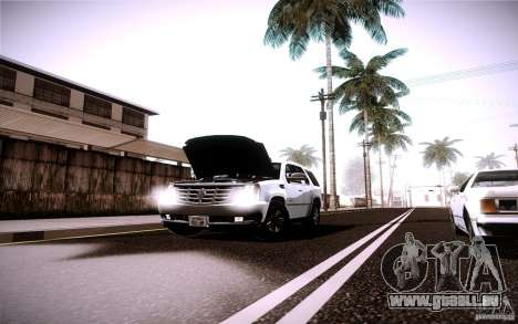 Cadillac Escalade pour GTA San Andreas vue intérieure