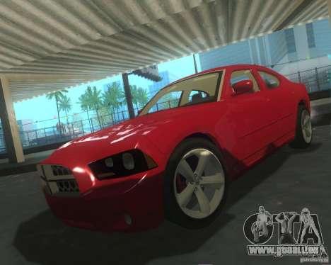Dodge Charger 2011 pour GTA San Andreas vue de dessus
