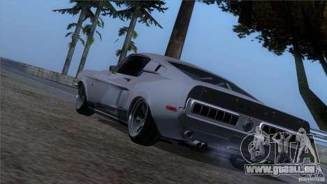 Shelby GT500 1969 pour GTA San Andreas laissé vue