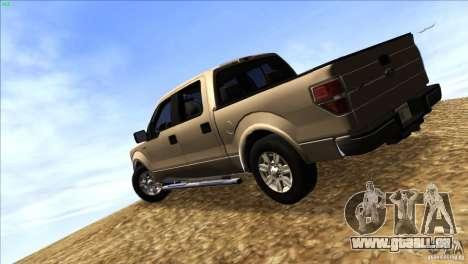 Ford F150 XLT SuperCrew 2010 für GTA San Andreas zurück linke Ansicht