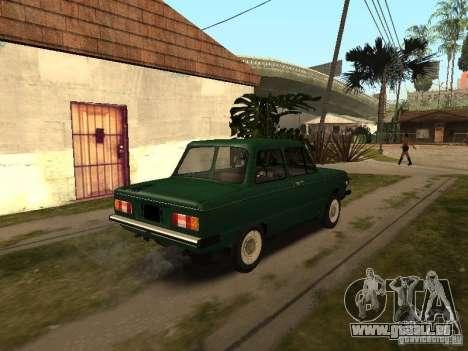 ZAZ 968 m v2 pour GTA San Andreas sur la vue arrière gauche