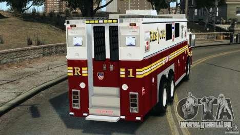 FDNY Rescue 1 [ELS] pour GTA 4 Vue arrière de la gauche