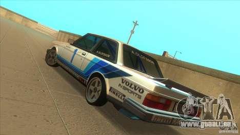Volvo 240 Turbo Group A für GTA San Andreas zurück linke Ansicht