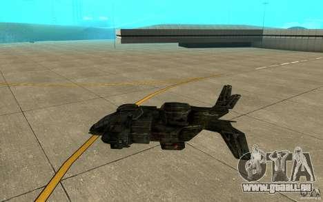 Das Shuttle aus dem Spiel Aliens Vs Predator 3 für GTA San Andreas zurück linke Ansicht