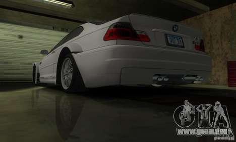BMW M3 Tuneable pour GTA San Andreas vue de dessous