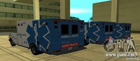 Krankenwagen von GTA 4 für GTA San Andreas linke Ansicht
