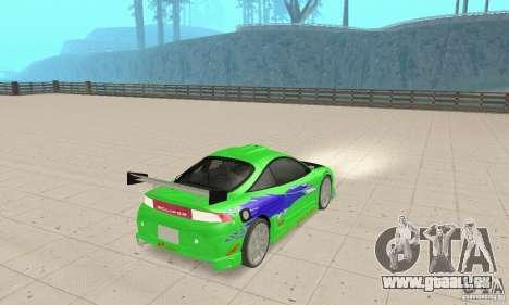 Mitsubishi Eclipse FnF für GTA San Andreas linke Ansicht