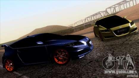 Honda CR-Z Mugen 2011 V1.0 pour GTA San Andreas sur la vue arrière gauche