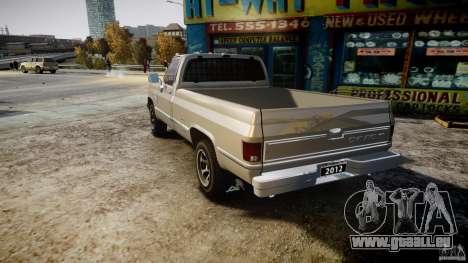 Chevrolet Silverado 1977 für GTA 4 hinten links Ansicht