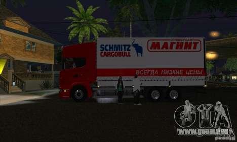 Scania R620-MAGNET für GTA San Andreas linke Ansicht