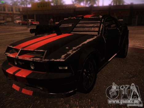 Ford Mustang Shelby GT500 für GTA San Andreas linke Ansicht