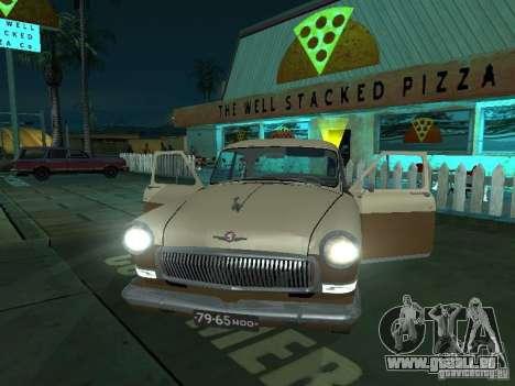 GAZ M21T Taxi pour GTA San Andreas vue intérieure