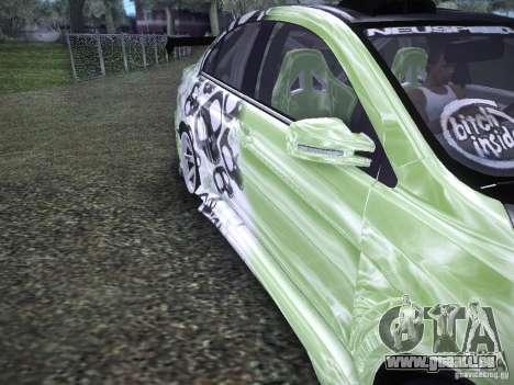 Mitsubishi Lancer Evolution X - Tuning pour GTA San Andreas vue intérieure
