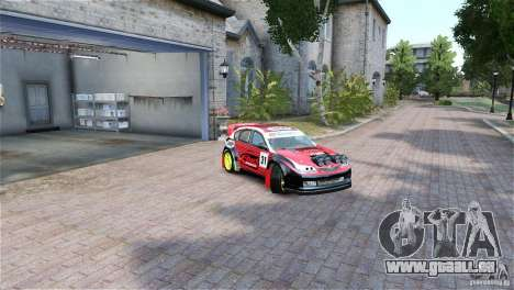 Subaru Impreza WRX STI RALLYCROSS Eibach Springs pour GTA 4 est un droit