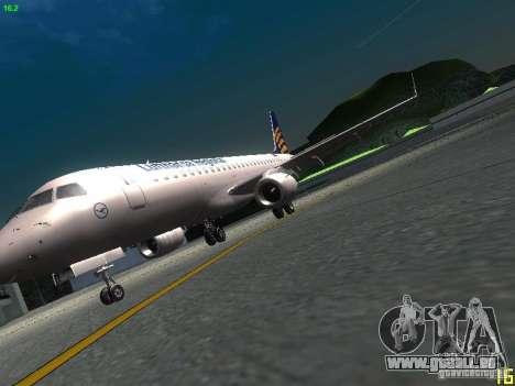 Embraer ERJ 190 Lufthansa Regional pour GTA San Andreas vue intérieure