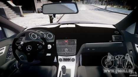 Mercedes-Benz C180 CGi Classic Special 2009 pour GTA 4 vue de dessus