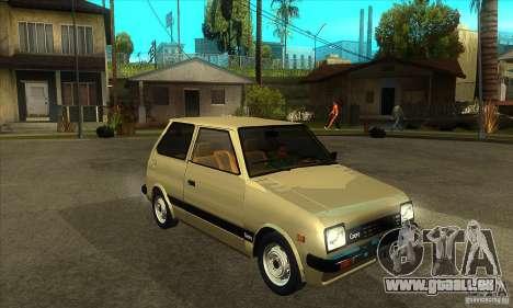 Daihatsu Cuore 1981 pour GTA San Andreas vue arrière