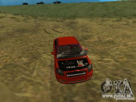 Toyota Avensis TRD Tuning pour GTA San Andreas vue de dessus