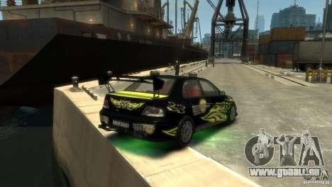 Mitsubishi EVO IX pour GTA 4 est un droit