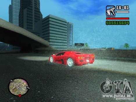 SSC Ultimate Aero für GTA San Andreas zurück linke Ansicht