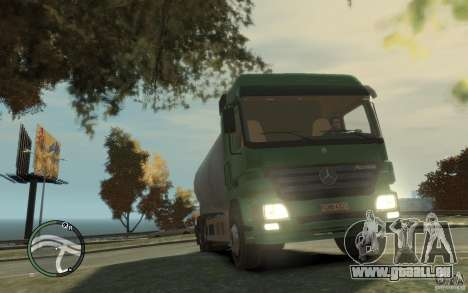 Mercedes Benz Actros Gas Tanker für GTA 4 Innen