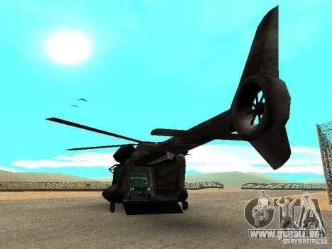New Cargobob pour GTA San Andreas sur la vue arrière gauche