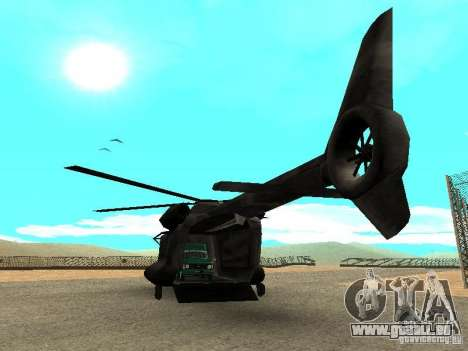 New Cargobob für GTA San Andreas zurück linke Ansicht
