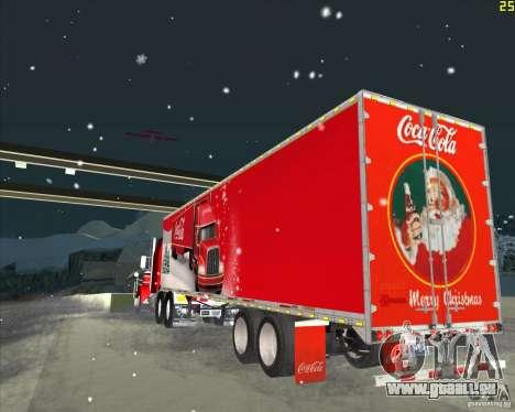 La remorque pour la remorque de Coca Cola pour GTA San Andreas sur la vue arrière gauche