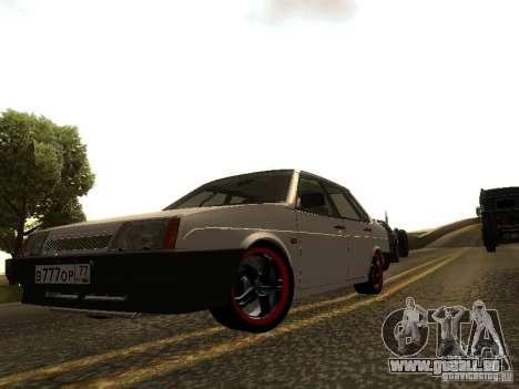 VAZ 21099 c. 2 pour GTA San Andreas laissé vue