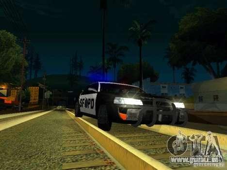 San-Fierro Sultan Copcar pour GTA San Andreas vue intérieure