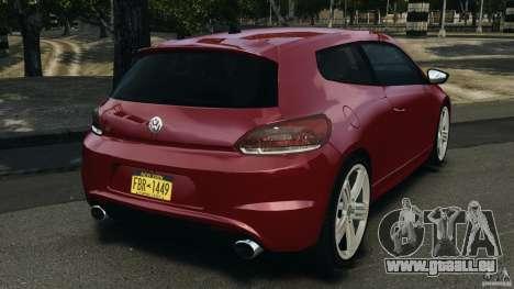 Volkswagen Scirocco R v1.0 pour GTA 4 Vue arrière de la gauche