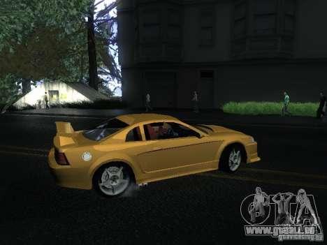 Ford Mustang SVT Cobra pour GTA San Andreas sur la vue arrière gauche