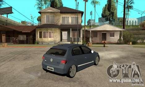 Volkswagen Gol G5 pour GTA San Andreas vue de droite