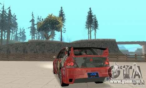 Mitsubishi Lancer Evolution 8 für GTA San Andreas linke Ansicht