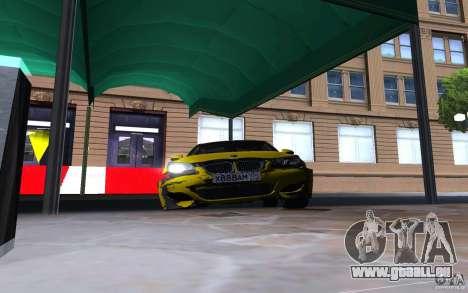 BMW M5 Gold Edition pour GTA San Andreas vue de dessus