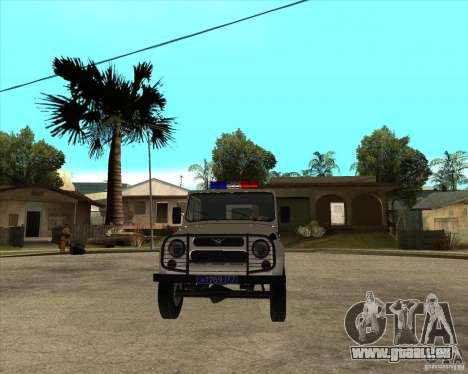 UAZ 31514 patrol für GTA San Andreas Rückansicht