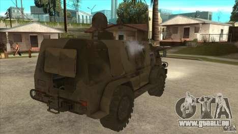 GAZ 39371 Vodnik pour GTA San Andreas vue de droite