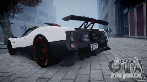Pagani Zonda Cinque Roadster pour GTA 4 Vue arrière de la gauche