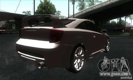Toyota Celica-SS2 Tuning v1.1 pour GTA San Andreas sur la vue arrière gauche