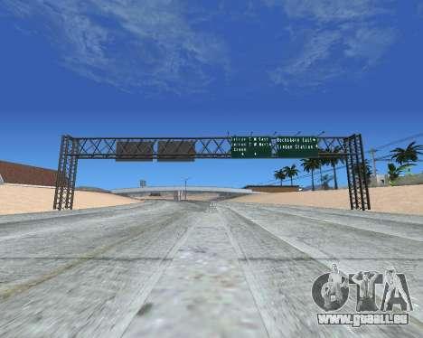 Route signes v1.2 pour GTA San Andreas troisième écran